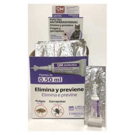 Quimunsa pipetas fipronilo gatos 0,5 ml. 1 pip.