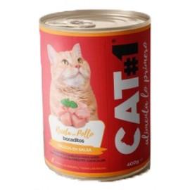 Cat-1 bocaditos de Pollo para gatos 400 gr.