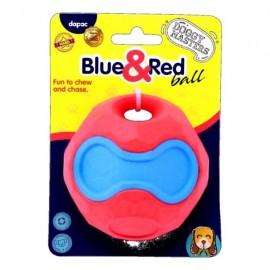 Doggy Masters Bola azul y roja con sonido para perros