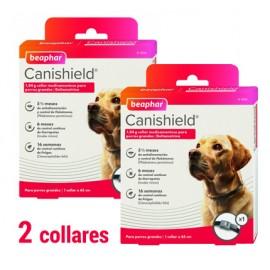 Canishield Collar Antiparasitario perros 65 cm. individual (pack 2 collares)