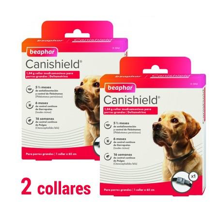 Canishield Collar Antiparasitario para Perros Grandes 65 cm. (1/2 collares)