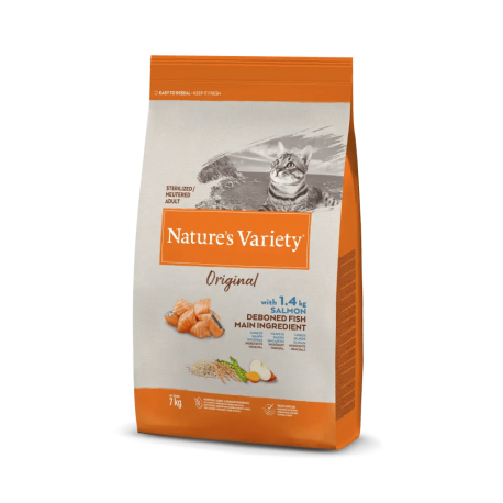 Natures Variety Gato Original Estéril Salmón 3 kg.