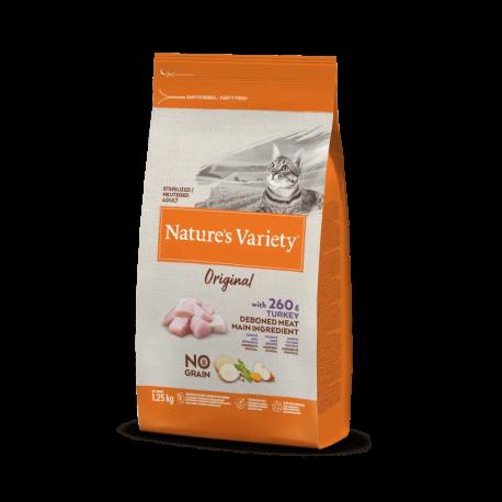 Natures Variety Gato Original Estéril Salmón 1,25 kg.