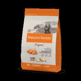 Natures Variety Perro Original No Grain Medium Salmón 10 kg.