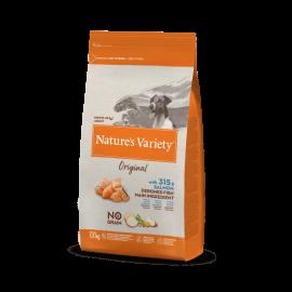 Natures Variety Perro Original No Grain Mini Salmón 1,5 kg.