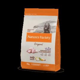 Natures Variety Perro Original No Grain Medium Pavo 10 kg.