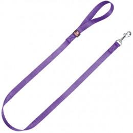 Correa Nylon Basic Púrpura Talla L para perros